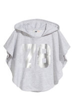 Poncho with a hood - Light grey marl - Kids | H&M 2