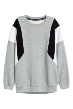 Block-coloured sweatshirt - Grey marl - Ladies | H&M CN 2