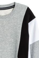 Block-coloured sweatshirt - Grey marl - Ladies | H&M CN 3