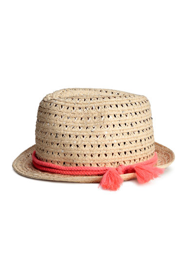 Straw hat - Natural - Kids | H&M CN 1