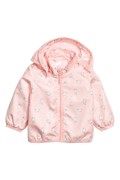 Outdoor jacket - Powder pink/Rabbits - Kids | H&M CN 1