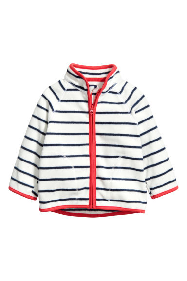 絨毛外套 - White/Dark blue/Striped - Kids | H&M