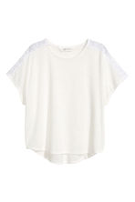 Wide top - White - Kids | H&M CN 2