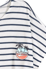 Wide top - White/Dark blue/Striped - Kids | H&M 3