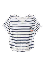 寬鬆上衣 - White/Dark blue/Striped - Kids | H&M 2