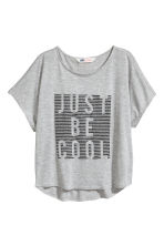 Wide top - Grey marl -  | H&M 2