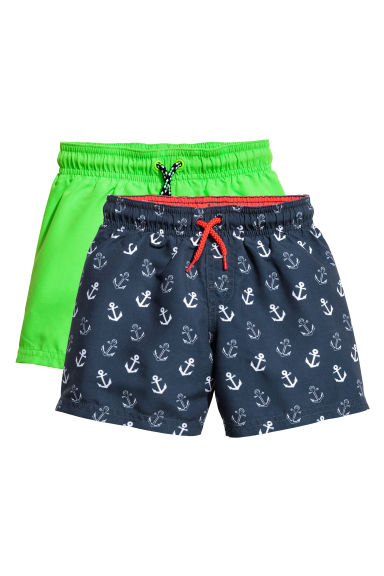 2-pack swim shorts - Neon green - Kids | H&M 1
