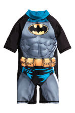 UPF 50 連身泳裝 - Black/Batman - Kids | H&M 1