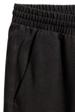 Wide lyocell trousers - Black - Ladies | H&M 3