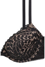 Lace push-up bra - Black/Powder - Ladies | H&M 3
