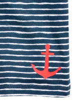 Printed T-shirt - Dark blue/Striped -  | H&M 3