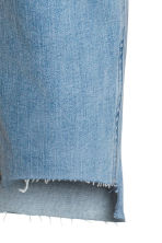 Straight Cropped Regular Jeans - Azul denim claro - MUJER | H&M ES 4