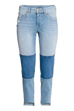 Straight Cropped Regular Jeans - Azul denim claro - MUJER | H&M ES 2