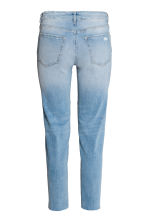 Straight Cropped Regular Jeans - Light denim blue - Ladies | H&M 3