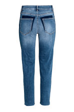 Straight Cropped Regular Jeans - Denimblauw - DAMES | H&M BE 3
