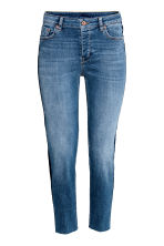 Straight Cropped Regular Jeans - Azul denim - MUJER | H&M ES 2