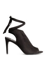 Peep-toes with a tie back - Black - Ladies | H&M 1