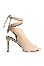 Peep-toes with a tie back - Light beige - Ladies | H&M CN 1