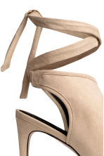 Peep-toes with a tie back - Light beige - Ladies | H&M CN 4