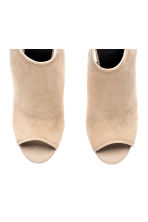 Peep-toes with a tie back - Light beige - Ladies | H&M CA 2