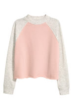 Cropped sweatshirt - Powder pink - Ladies | H&M 2