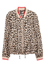 Satin bomber jacket - Leopard print - Ladies | H&M 2