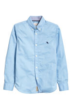 Generous fit Cotton shirt - Light blue - Kids | H&M CN 1