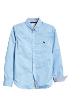 Generous fit Cotton shirt - Light blue - Kids | H&M CN 2