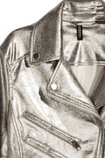 Biker jacket - Silver - Ladies | H&M 4