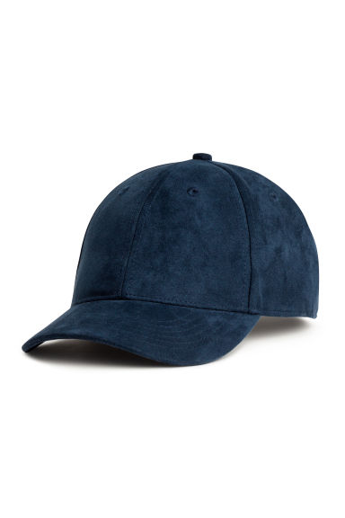 Imitation suede cap - Dark blue - Men | H&M CA