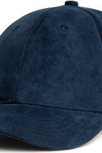 Imitation suede cap - Dark blue - Men | H&M CN 3