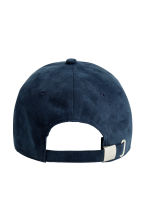 Imitation suede cap - Dark blue - Men | H&M CN 2