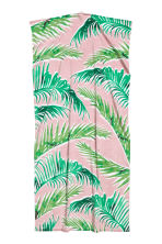 Patterned beach towel - Light pink/Leaf - Home All | H&M CN 3