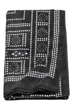 Patterned bath towel - Anthracite grey - Home All | H&M CN 2