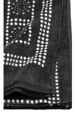 Patterned bath towel - Anthracite grey - Home All | H&M CN 4