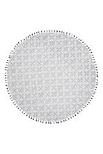 Round beach towel - White/Patterned - Home All | H&M CN 3