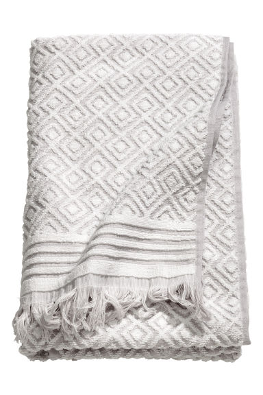 Jacquard-weave towel - Light grey/Patterned - Home All | H&M CN 1