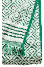 Jacquard-weave towel - Green/Patterned - Home All | H&M CN 3
