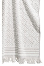 Jacquard-weave hand towel - Light grey/Patterned - Home All | H&M CN 2
