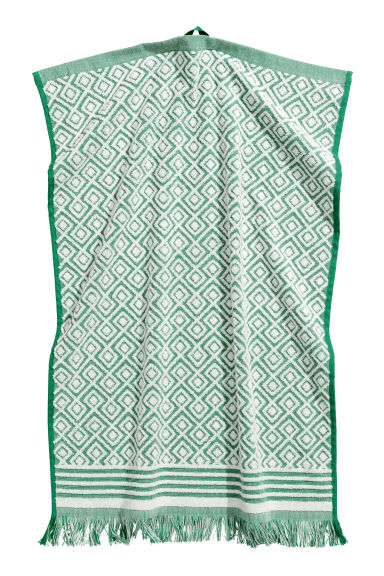 Jacquard-weave hand towel - Green/Patterned - Home All | H&M CN 1