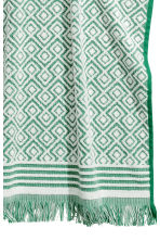 Jacquard-weave hand towel - Green/Patterned - Home All | H&M CN 2