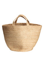 Jute beach bag - Natural - Home All | H&M CN 1