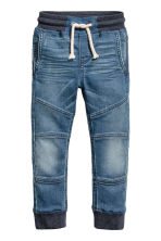 Super Soft denim joggers - Denim blue -  | H&M 2