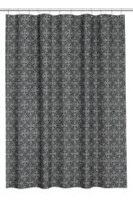 Patterned shower curtain - Anthracite grey/Natural white - Home All | H&M CN 2