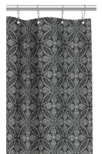 Patterned shower curtain - Anthracite grey/Natural white - Home All | H&M CN 3