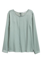 Satin blouse - Grey - Ladies | H&M 2