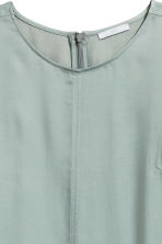 Satin blouse - Grey - Ladies | H&M 3