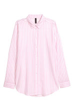Cotton shirt - Pink/Striped - Ladies | H&M 2
