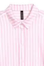 Cotton shirt - Pink/Striped - Ladies | H&M 3