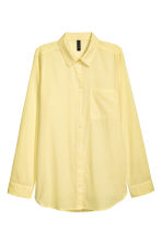 Cotton shirt - Yellow - Ladies | H&M 2